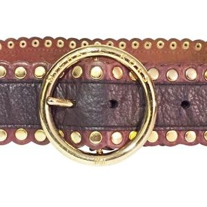 studded large vintage Michael kors leather belt